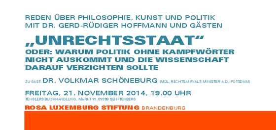 Veranstaltungsarchiv DIE LINKE Dr Gerd Rüdiger Hoffmann